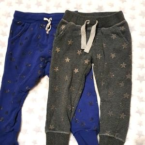 Size 3 track style pants x2